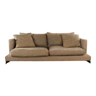 Modern San Francisco Design Center Contemporary Brown Upholstered Sofa For Sale