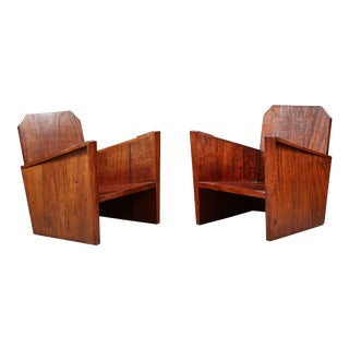 Pair of Armchairs, Around 1930, Variety of Rosewood For Sale