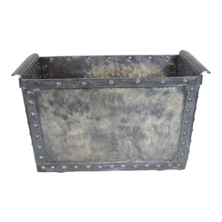 Early 20th Century French Industrial Polished Steel Trough For Sale