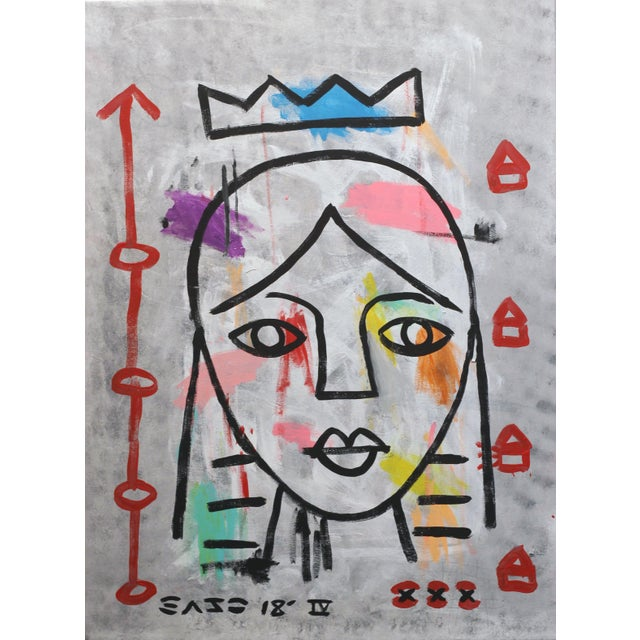 """""""Lady Like"""" Original Acrylic Painting by Gary John For Sale - Image 9 of 9"""