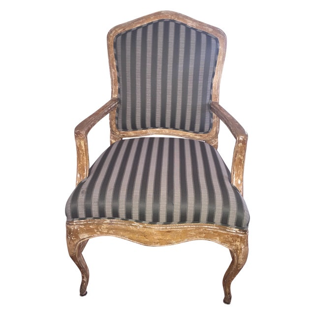 French Provincial Distressed Wood Chairs - 6 - Image 1 of 5