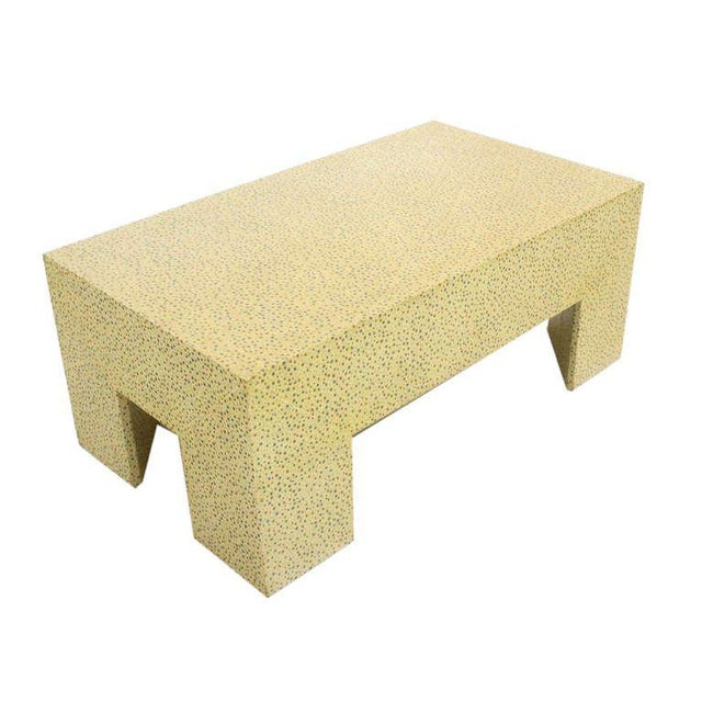 Mid-Century Modern Heavy Large Legs Mid Century Modern Geometric Coffee Table Dotted Pattern. For Sale - Image 3 of 9