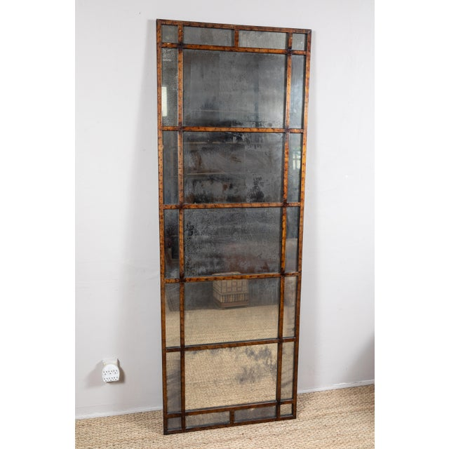 Mid 20th Century Vintage Smokey Mirrored Panel For Sale - Image 5 of 6