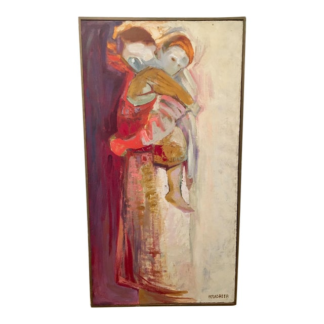 Framed Mother and Child Abstract Painting by Bradbeer - Image 1 of 6