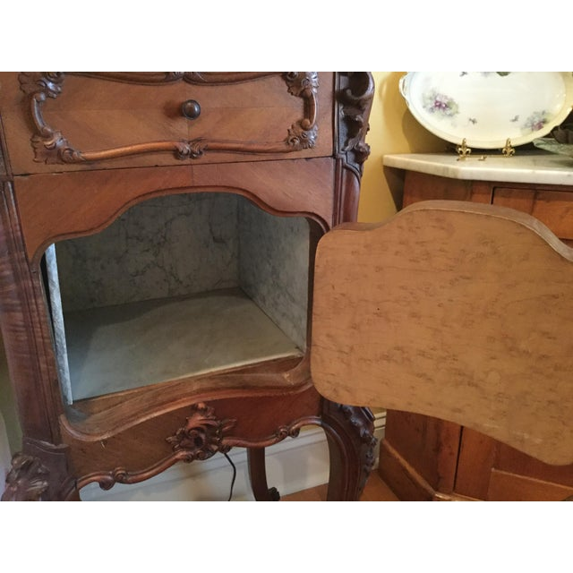 Antique French Country Marble Top Nightstand For Sale - Image 10 of 10