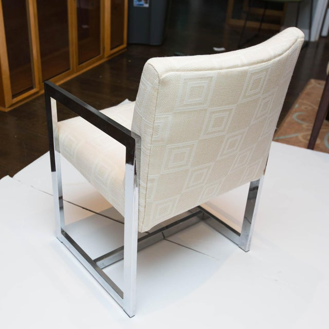 Chrome Mid-Century Modern Chrome Armchair For Sale - Image 7 of 10
