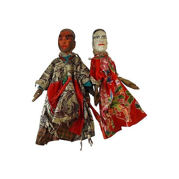 Folk Art Theater Opera Doll Puppets - A Pair - Image 5 of 6