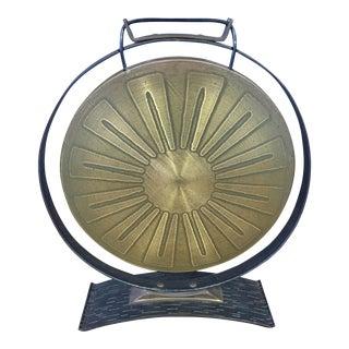 1970s Mid Century Brutalist Paul Evans Brass Gong For Sale