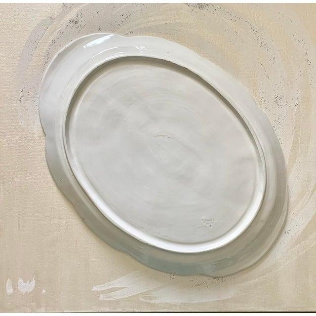 Hollywood Regency Large Italian Hand Painted Ceramic Turkey Platter For Sale - Image 3 of 5