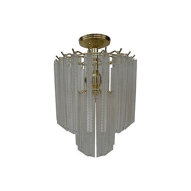 1970s Lucite Prism Hanging Light - Image 1 of 4