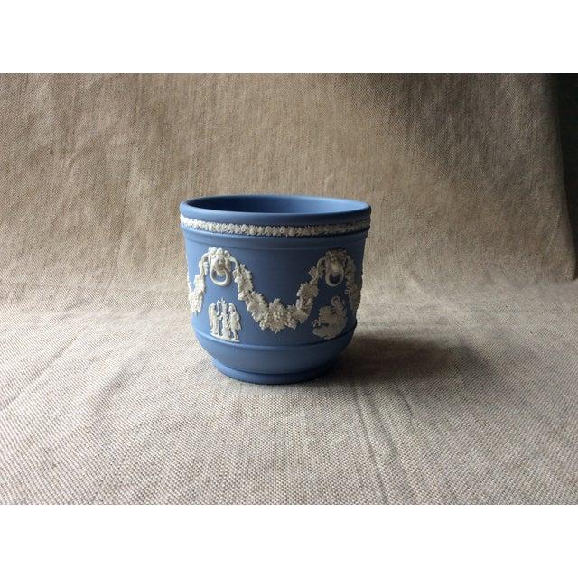 Blue Wedgewood Blue Jasperware Cachepot For Sale - Image 8 of 10