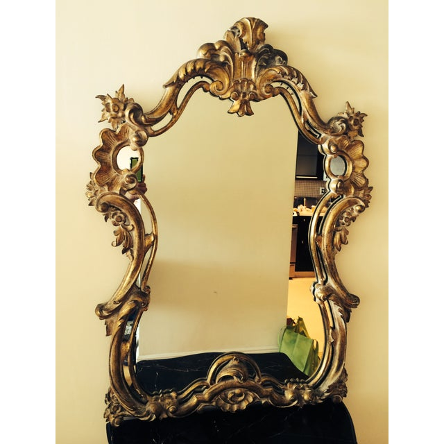 French Rococo Bombe Chest with Gilt Rococo Mirror For Sale In Miami - Image 6 of 6