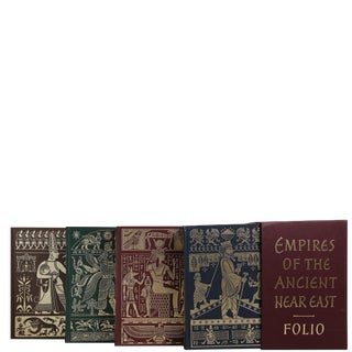 """1952 """"Folio Society, Empires of the Ancient Near East, S/4"""" Coffee Table Book For Sale"""
