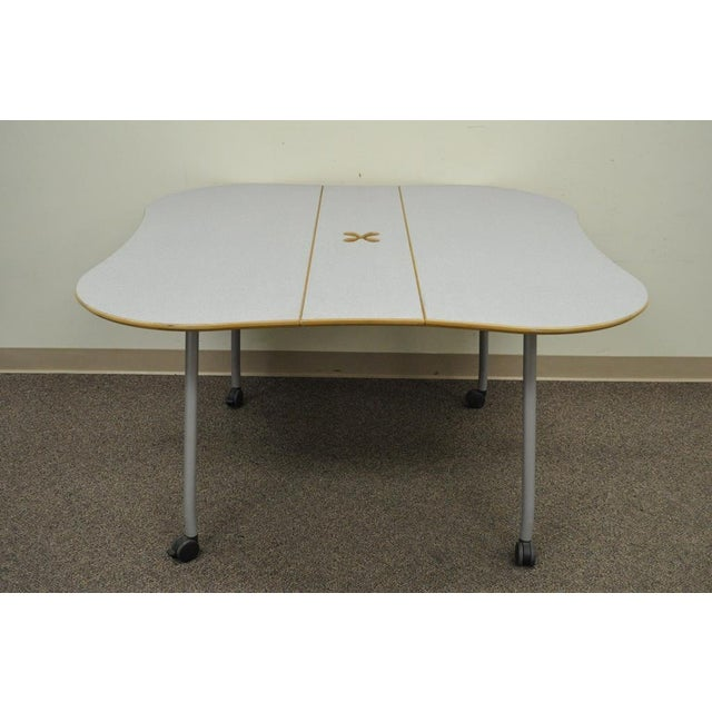 Herman Miller Intersect Group Butterfly Foldaway Drop Side Conference Work Table For Sale - Image 11 of 11
