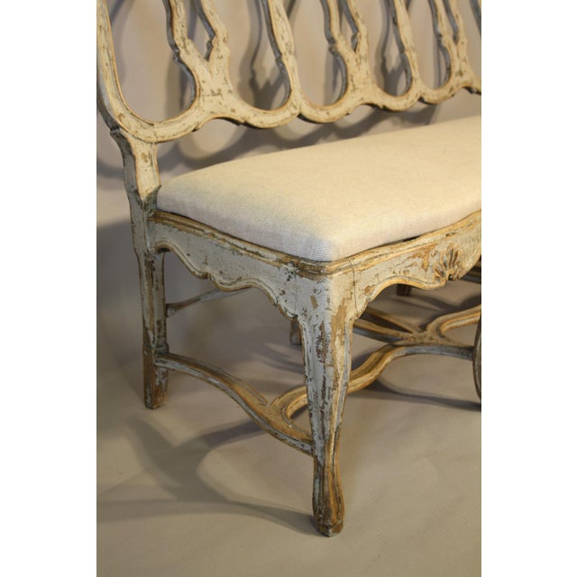19th C Portuguese Carved Wood Bench For Sale - Image 4 of 11