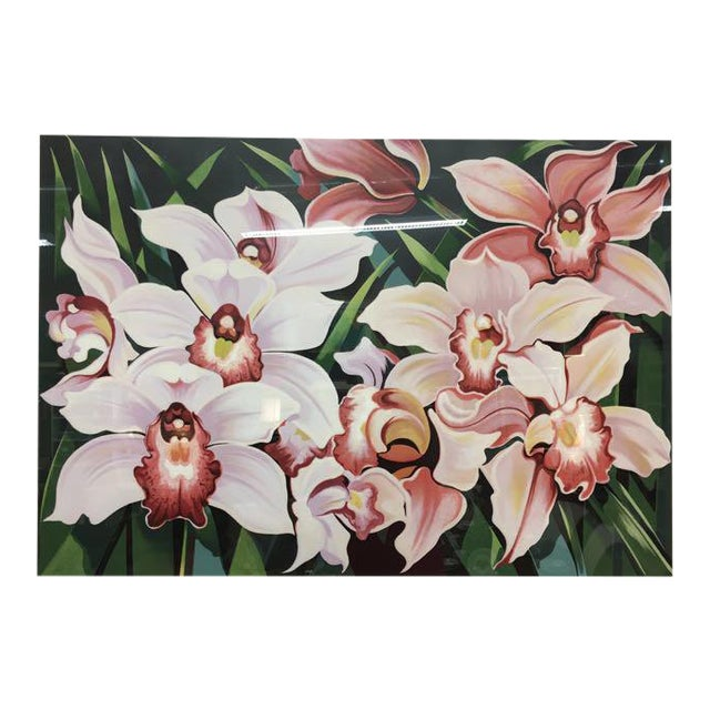 "1981 Serigraph ""Cattleya Orchids"" by Lowell Nesbitt For Sale"