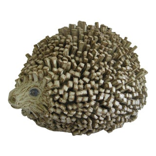 Folk Art Pottery Hedgehog For Sale
