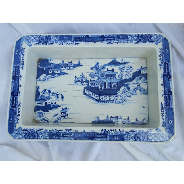 Hand Painted Blue & White Bulb Forcing Tray - Image 2 of 6