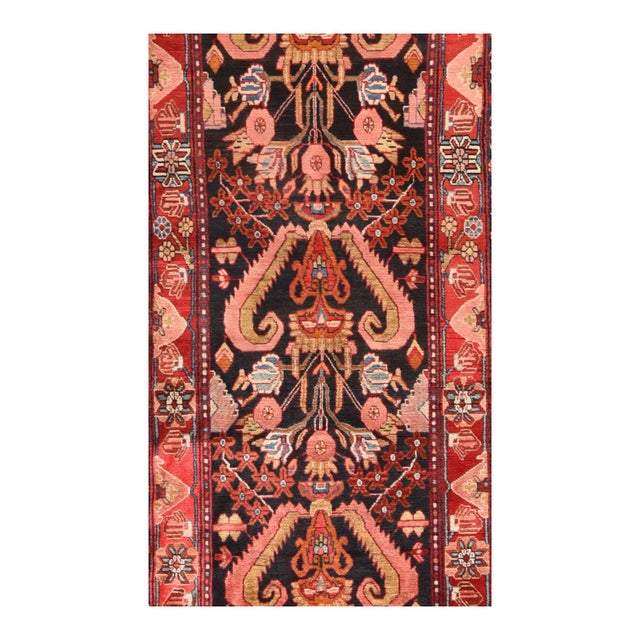 Persian Hand Knotted Persian Hamedan Wool For Sale - Image 3 of 4