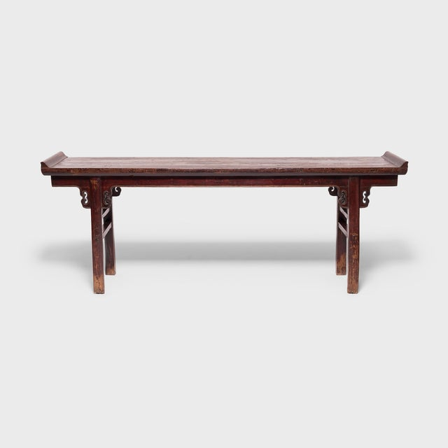 Although this beautiful 19th-century altar table was crafted in the late Qing-dynasty, its refined form hearkens back to...