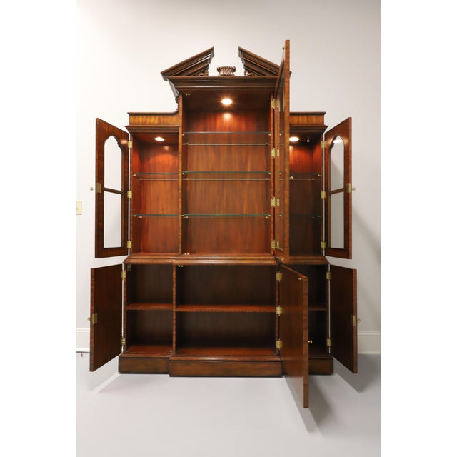 Maitland - Smith Maitland Smith Aged Mahogany Chippendale Breakfront China Cabinet For Sale - Image 4 of 13