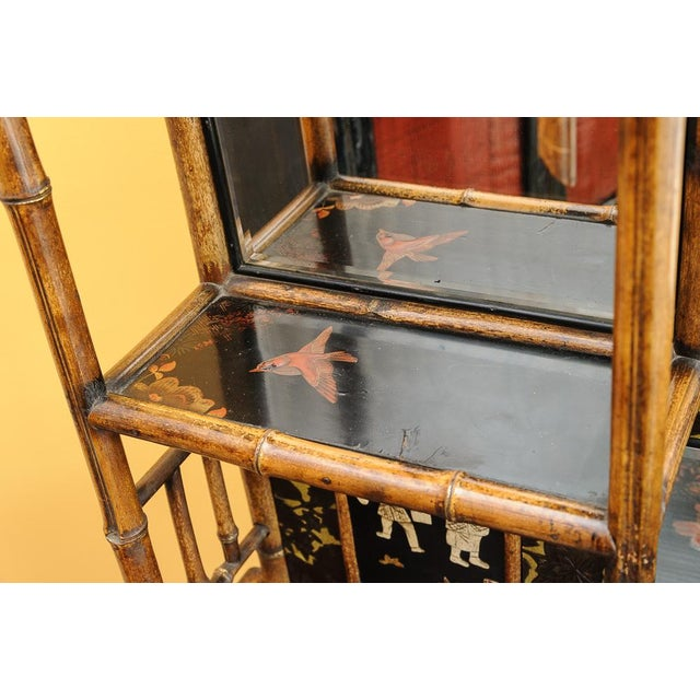 Brown Bamboo cabinet For Sale - Image 8 of 11