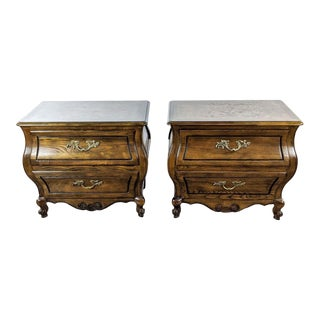 Baker Furniture Two Drawer Nightstands - a Pair For Sale