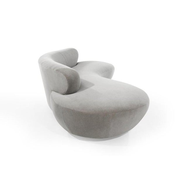 Late 20th Century Mohair Cloud Sofa on Walnut Bases by Vladimir Kagan for Directional For Sale - Image 5 of 13