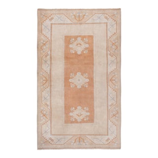 1980s Turkish Milas Wool 5'1'' X 8'4'' Pile Decorative Area Rug For Sale
