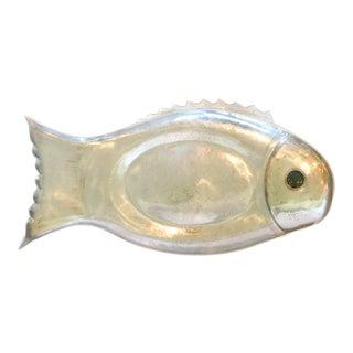 Vintage 1975 Arthur Court Fish Serving Platter With Jade Eye For Sale