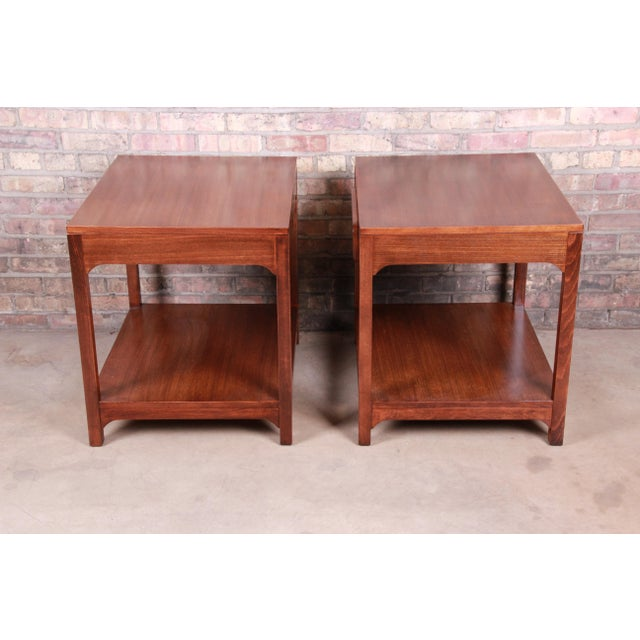 Edward Wormley for Drexel Precedent Mid-Century Modern Nightstands or End Tables, Newly Refinished For Sale - Image 10 of 13
