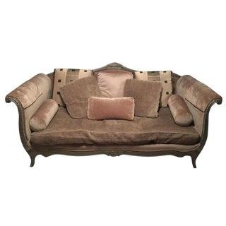 Drexel Heritage Silver Beige Sofa
