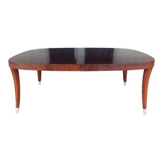 Henredon Art Deco Style Figured Mahogany Dining Table