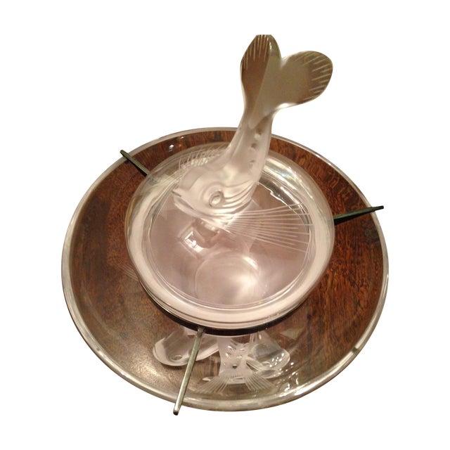 Marie-Claude Lalique Caviar Bowl Set For Sale