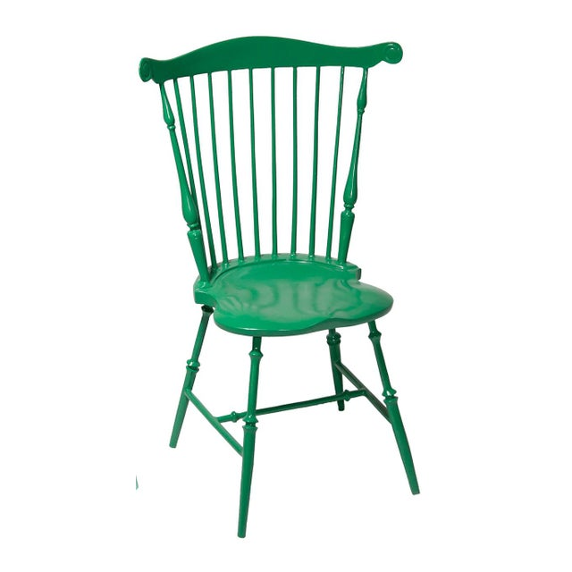 American Fanback Outdoor Chair in Large Room Green For Sale - Image 3 of 3