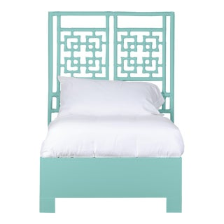 Palm Springs Bed Twin Extra Long - Turquoise For Sale