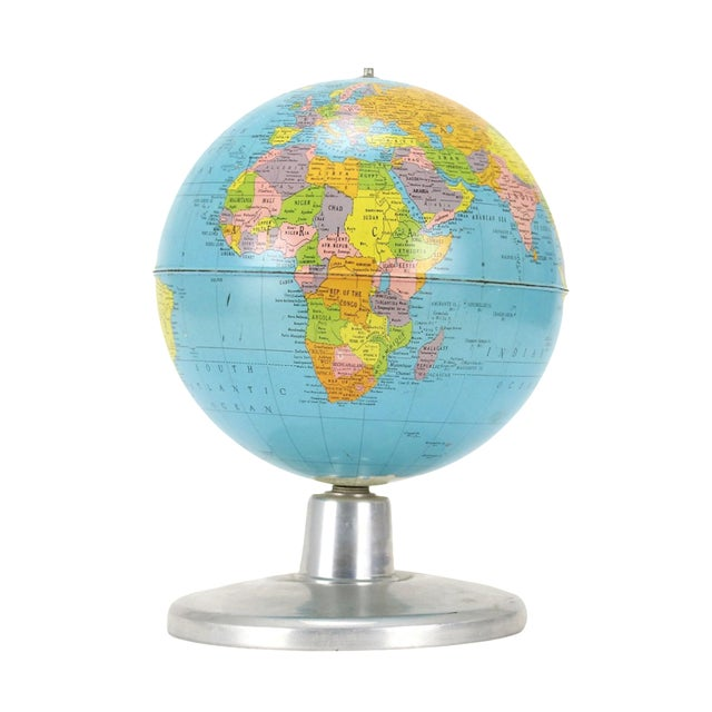 "Replogle Simplified 8"" Globe on Aluminum Base - Image 1 of 3"