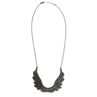 Diamond Wing Necklace For Sale