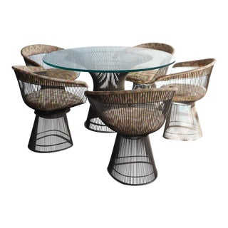 1960s Knoll Platner Mid-Century Modern Dining Set - 6 Pieces For Sale