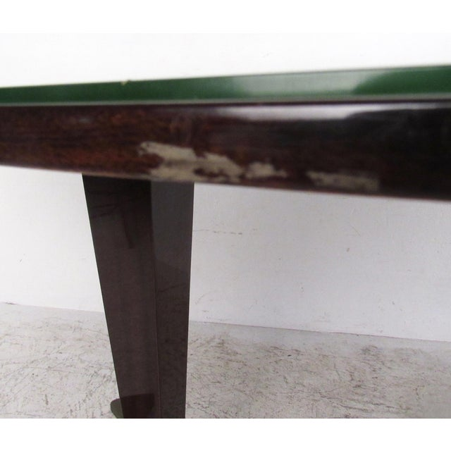 Italian Glass Top Dining Table For Sale - Image 10 of 10