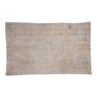 "Distressed Oushak Rug - 4'4"" X 7'1"" For Sale"