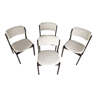 Mid-Century Modern Erik Buch Dining Chairs - Set of 4 For Sale