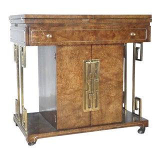 Free Shipping MasterCraft Mid-Century Folding Bar Cabinet