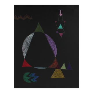 Geometric Abstract in Pastel ,1972 For Sale