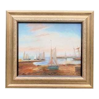 Sailboats Original Oil Painting For Sale