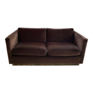 Mid-Century Tuxedo Loveseat Milo Baughman for Thayer Coggin Newly Reupholstered For Sale