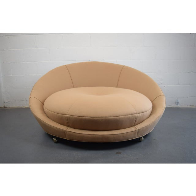 Milo Baughman Round Lounger Settee For Sale - Image 5 of 11
