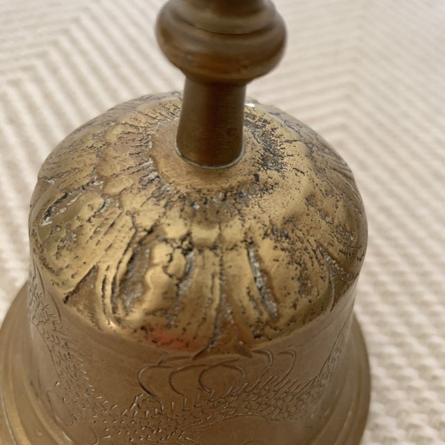 1960s Brass Bell With Etching For Sale - Image 12 of 13