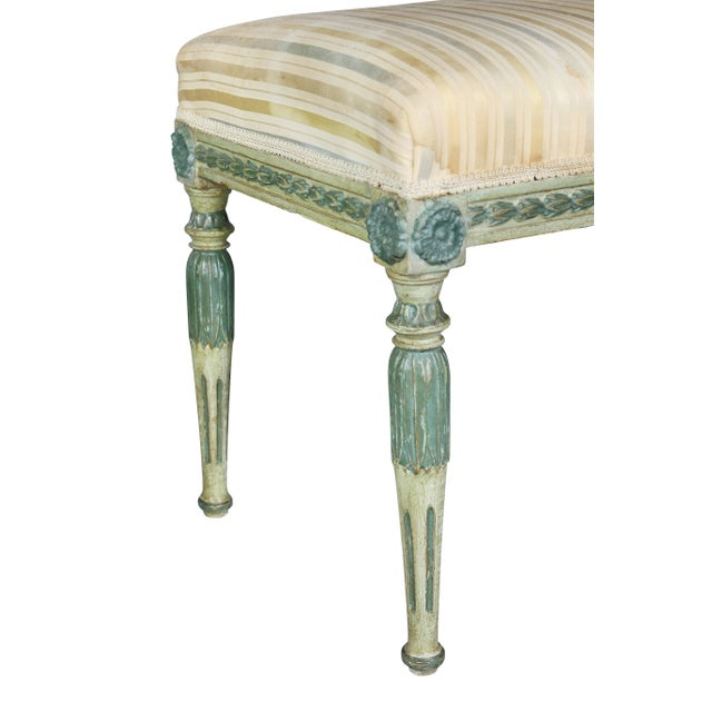 Wood Swedish Neoclassic Painted Benches - a Pair For Sale - Image 7 of 11