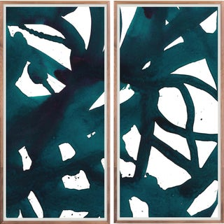Malta Diptych: Teal Art Print - Framed For Sale